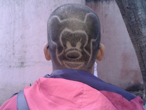 mickey mouse hair style trimmed hair