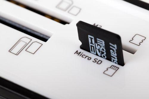 Micro Sd Card In A Reader