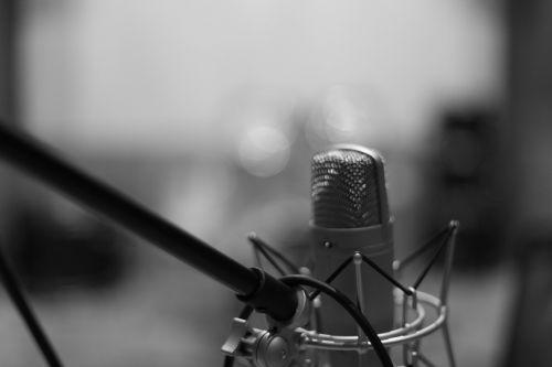 microphone mic black and white