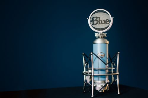 microphone condenser blue
