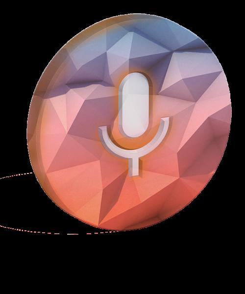 microphone headphone poly shape