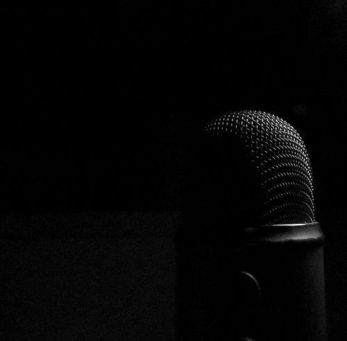 microphone dark audio