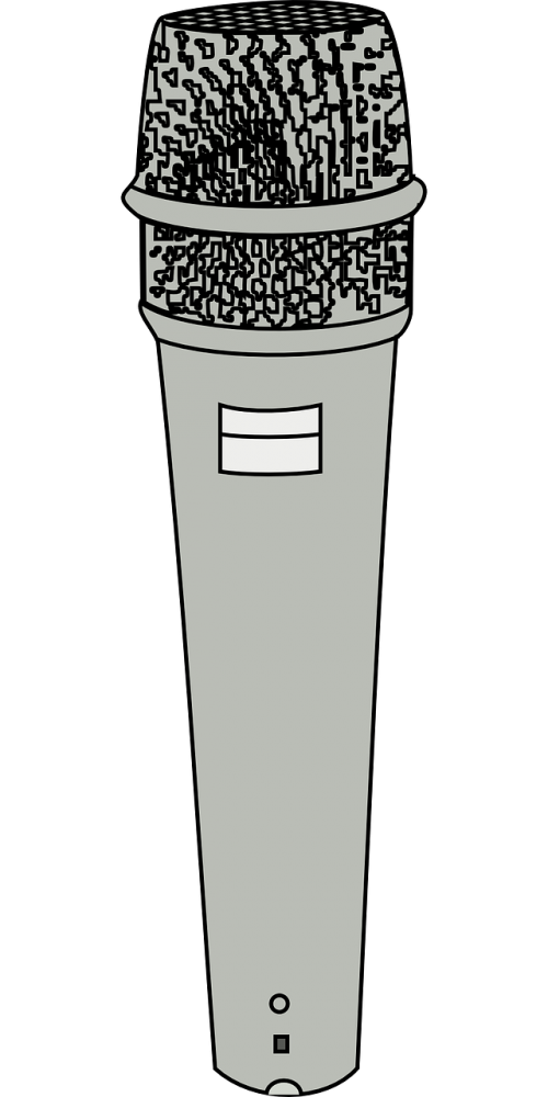microphone recording vocalist