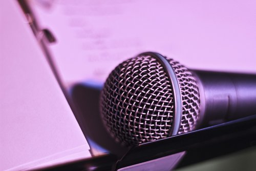 microphone  music  evening