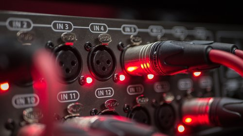 microphone  cable  mixer