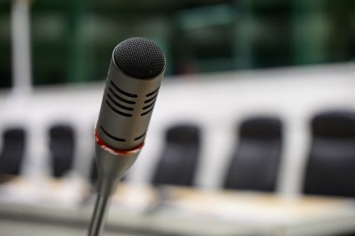 microphone talk conference