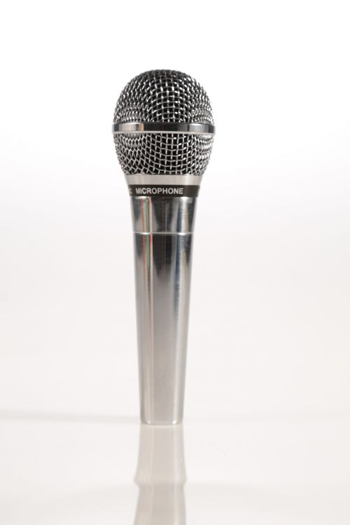 microphone mic silver