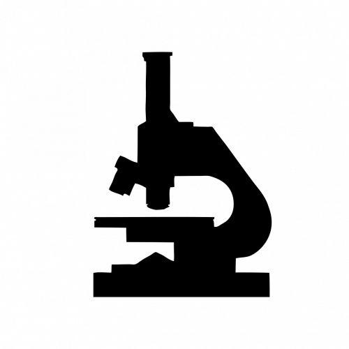 microscope black silhouette
