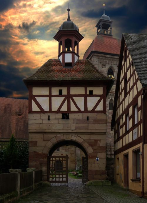 middle ages historically old town