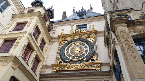 middle ages clock rouen