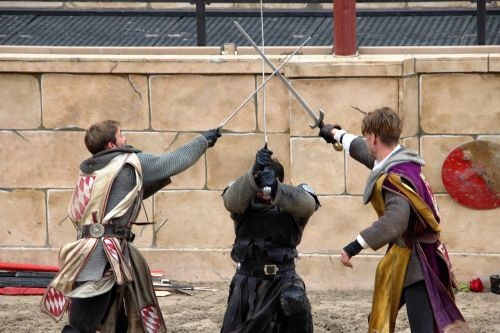 middle ages fight sword fighting