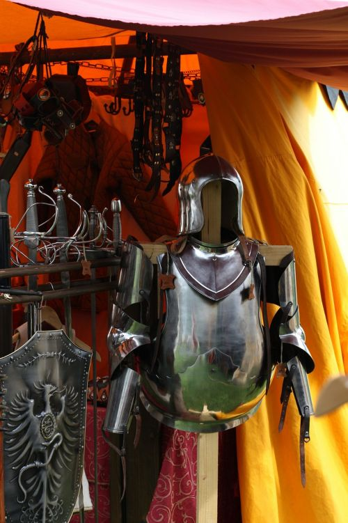 middle ages knight swords