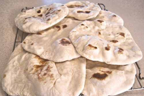 middle east flat bread wraps baked