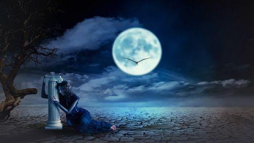 midnight fantasy photo manipulation moon