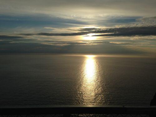 midnight sun north cape ocean