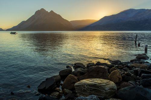 midnightsun midnight sun fjord
