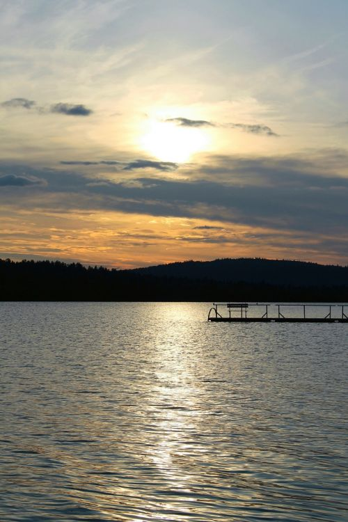 midsummer night sun finland