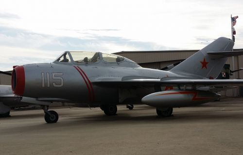mig-15 fighter jet aircraft-soldier