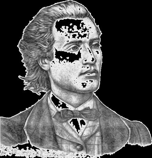 mihai eminescu man portrait