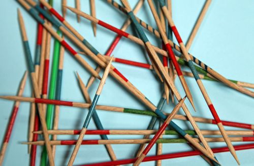 mikado wooden sticks play