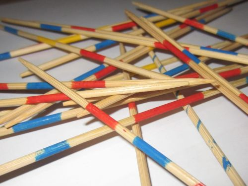 mikado wooden sticks bars
