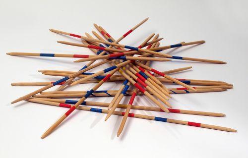 mikado play wooden sticks