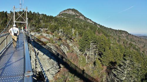 mile high bridge grandfather mountain nature