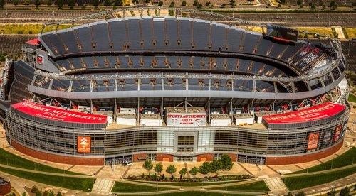 mile high stadium  football stadiums  aerial view