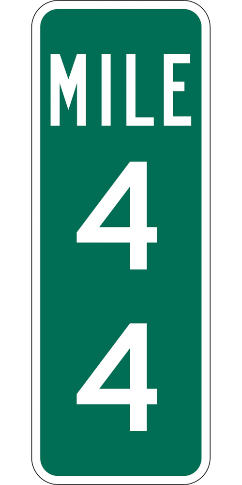 mile marker highway sign