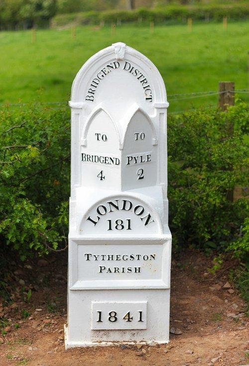 mile stone  marker  distance