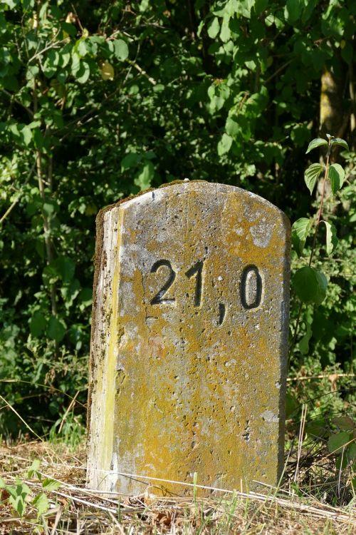 milestone landmark wall stone