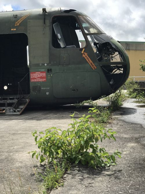 military helicopter discarded