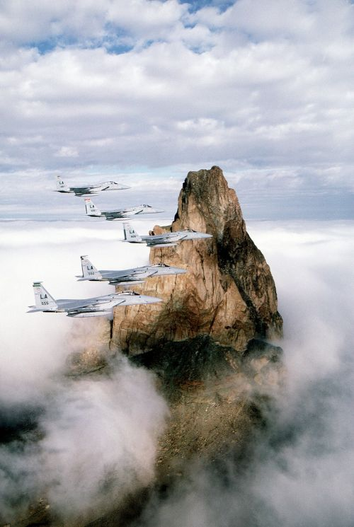 military aircraft flying formation