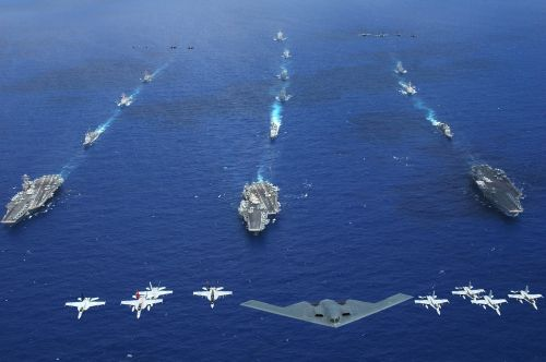 military aircraft carriers strike groups formation