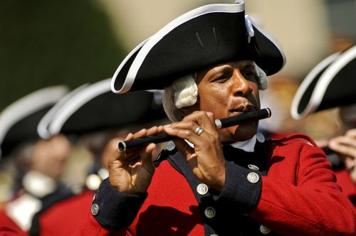 military fifer musician ceremonial