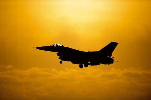 military jet flight silhouette