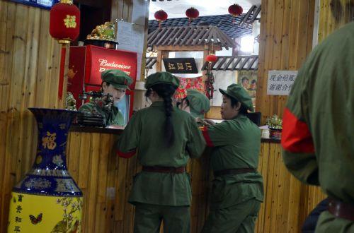 verslas, kariuomenė, restoranas, maistas, kinai, virtuvė, karinio stiliaus restoranas
