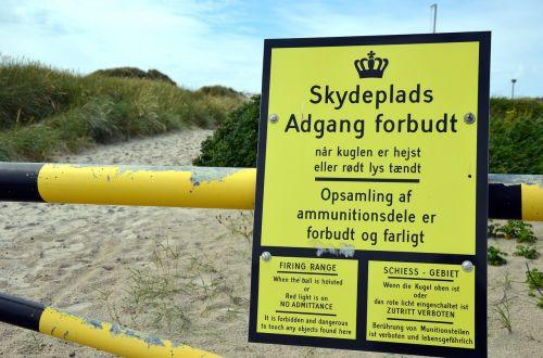 military training area denmark access forbidden