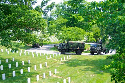 Military Vehicles At Arlington