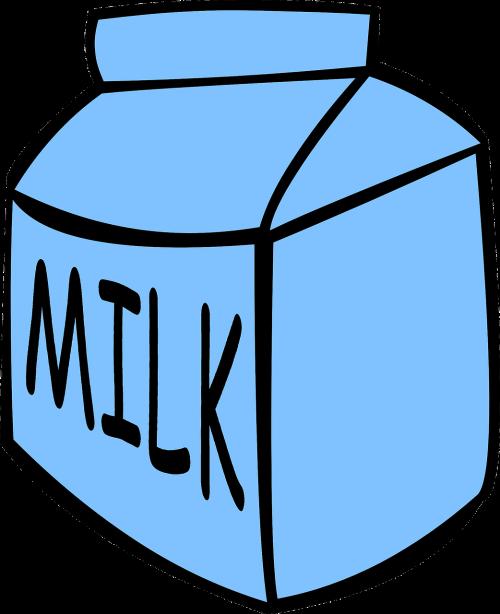 milk carton blue