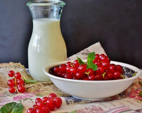 milk berries currant shake