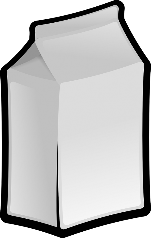 milk carton white