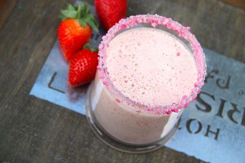 milk shake sprinkles strawberries