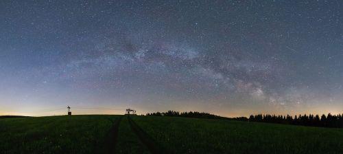milky way panorama astro