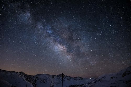 milky way  starry sky  night sky
