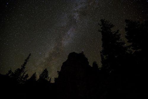 milky way stars night