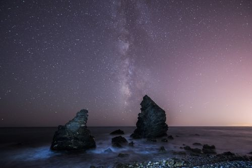 milky way boulders sea