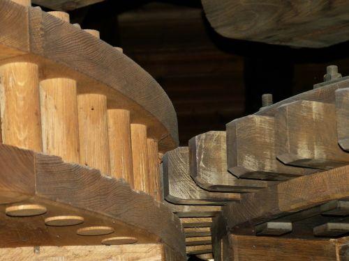 malūnas,miltų malūnas,vėjo malūnas,mediena,įrankis,riedmenys,miškai,įrankiai,vairuoti,transmisija,mechanika