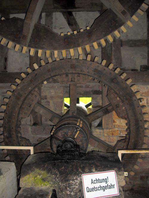 mill gears wooden gears