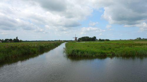 mill dutch landscape landscape
